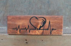 Fish Hook and Antler Heartbeat Rustic Wood Signs, Wooden Signs, Hunting Signs, Archery Hunting, Bow Hunting, Dyi, Hunting Crafts, Fishing Signs, Fishing Lures