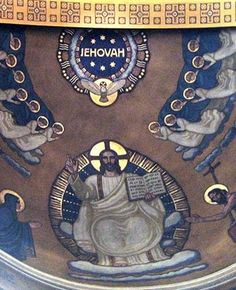 The name Jehovah at the Roman Catholic Church St. Martinskirche, in Olten Switzerland.