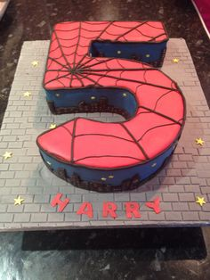 Spider-Man cake for a 5 year old birthday