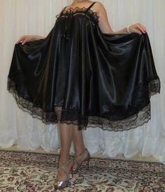 Vintage Lingerie, Women Lingerie, Plus Size Vintage, Plus Size Lingerie, Night Gown, Satin, Lace, Sexy, Skirts