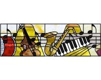 Bar Music transom 11.5 x 35.5