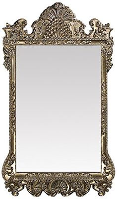 Howard Elliott Marquette Antique Oversized Mirror, Leaning Wall Ornate Mirror, Full Length, Silver Leaf, x x Home Decor Mirrors, Home Decor Furniture, Ornate Mirror, Rectangle Area, Wall Mounted Mirror, Mirror With Lights, Wool Area Rugs, Antique Silver