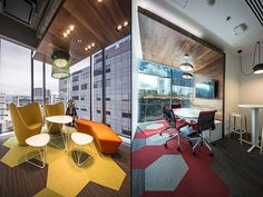 By using recycled content in the Shaw Contract Group carpet, ceilings and wooden finishes the firm achieved to decrease the damaging procedures that the planet is subjected to. The lighting includes LED technology and by choosing Herman Miller as their dealer, the client was assured that the furniture was made by clean and sustainable processes.