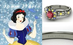 Check out Which Disney Engagement Ring Are You? #15 is absolutely stunning!