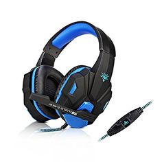 BaleeStereo Gaming Headphone Headset with Microphone Gaming Headphones, Gaming Headset, Computer Accessories, Usb, Videogames, Larger, Computers, Gadgets, Tech