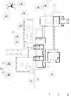 Galería de Casa OL / ZD+A - 14 Large Floor Plans, House Floor Plans, Architecture Drawings, Architecture Plan, Drawing House Plans, Single Storey House Plans, Hospital Architecture, Co Housing, Villa Plan