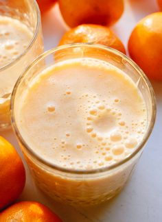 Clementine smoothie is packed with vitamin C!