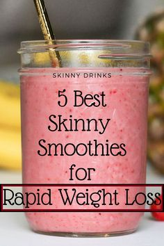 Best Skinny Smoothies for Rapid Weight Loss Here are 5 delicious smoothie recipes to include in your weight loss plan. Weight Loss Meals, Weight Loss Drinks, Weight Loss Smoothies, Fast Weight Loss, Healthy Weight Loss, How To Lose Weight Fast, Weight Loss Shakes, Yummy Smoothie Recipes, Shake Recipes