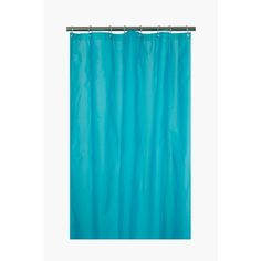 This frosted shower curtain is made with peva, a durable, waterproof plastic. Measures and includes 10 plastic curtain