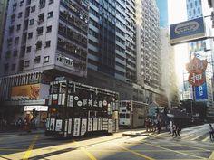 Double-decker trams in Wan Chai #hongkong