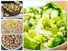 Lettuce, Cobb Salad, Potato Salad, Spinach, Potatoes, Meals, Vegetables, Ethnic Recipes, Food