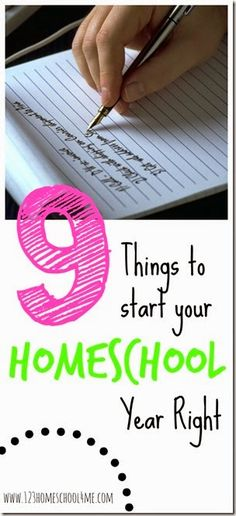 9 Things to start your homeschool year right - Great tips for homeschooling