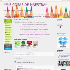 Fichas de comprensión lectora para primaria 'http://miscosasdemaestra.blogspot.com.es/2012/07/fichas-de-comprension-lectora-para.html' snapped on Snapito!