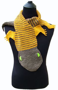 Morehouse Farm    Knitting Kits (Scarves):   Gecko Scarf KnitKit