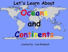 Smartboard lesson to teach about oceans and continents.  (.notebook file)  $