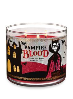 Home Fragrance, Candles & Wallflowers Vampire Blood Candle - Bath And Body Works Bath Candles, 3 Wick Candles, Scented Candles, Candle Jars, Bath N Body Works, Bath And Body Works Perfume, Disney Eye Makeup, Candle Store, Halloween Candles