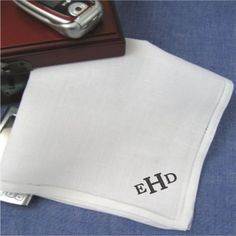 Mens Monogrammed Handkerchiefs Pure Linen Set of 2 Custom Mens Monogram Handkerchief Under 30 Dollars