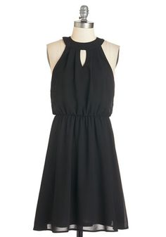 City Sway Dress. When youre donning this black dress, youll want to dance your way to each celebration! #gold #prom #modcloth