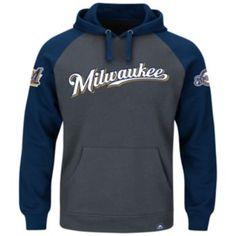 Majestic Milwaukee Brewers Cunning Play Fleece Hoodie - Men