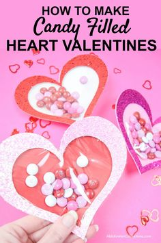 Valentine Crafts For Kids, Valentine Decorations, Valentines Diy, Candy Crafts, Paper Flower Tutorial, Flower Template, Upcycled Crafts, Craft Fairs, Hearts