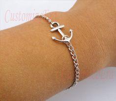 Anchorantique silver anchor braceletSailing times by CustomizeEra, $1.99