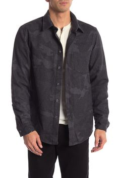 Slate & Stone Long Sleeve Camo Printed Shirt In Grey Camo Denim Button Up, Button Up Shirts, Slate Stone, Camo Print, Nordstrom Rack, Printed Shirts, Mens Fashion, Suits, Long Sleeve
