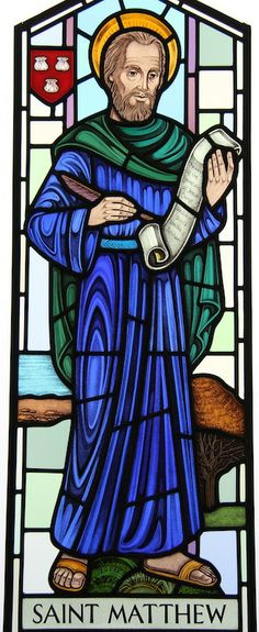St. Matthew window by Gilroy Stained Glass.