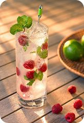 Rasberry mojitos