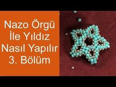 How to make stars with Nazo weaving Part Diy Abschnitt, Seed Bead Patterns, Beading Patterns, Seed Bead Jewelry, Bead Earrings, How To Make Stars, Beaded Starfish, Ring Tutorial, Beaded Brooch, Beading Tutorials