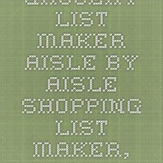grocery store list maker