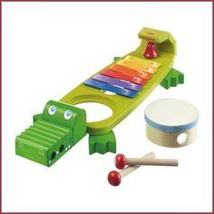 Haba Klankkrokodil, een absolute topper vanaf 2 jaar. Ieder kind maakt hiermee muziek.