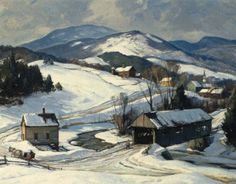 View Winter, Vermont by Aldro Thompson Hibbard on artnet. Browse upcoming and past auction lots by Aldro Thompson Hibbard. Painting Snow, Winter Painting, Beautiful Paintings, Beautiful Landscapes, Vermont, Abstract Landscape, Landscape Paintings, Classical Realism, Winter Scenery