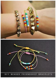 DIY Easy Sliding Knot Closure Beaded Friendship Bracelet Tutorial from Oh So Pretty several tutorials