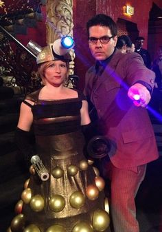 Doctor and Dalek cosplay. I love the Dalek, but I am not so into the docter. But great idea!