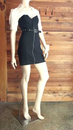 NWT GUESS JEANS JUNIORS SIZE 7 BLACK DRESS with WHITE BODICE #GUESS #EmpireWaist #Casual