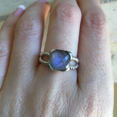 Labradorite are one of my favorite stone especially in this setting!!