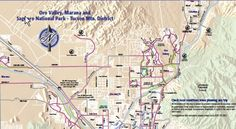 Tucson Bicycle Maps - back page (Tucson, University of Arizona campus, Marana, Oro Valley, Green Valley and Sahuarita, Saguaro National Park West)