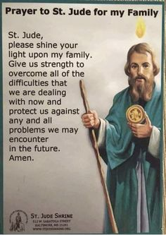 Prayer to St Jude Prayer Scriptures, Faith Prayer, God Prayer, Prayer Quotes, Bible Quotes, Bible Verses, Police Prayer, Rosary Prayer, Faith Quotes