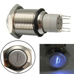 Buy buy on wallmart.win 12V 16mm Waterproof Momentary Horn Metal Push Button Switch Blue LED Lighted: Vendor: BG-US-Automobiles-Motorcycles…