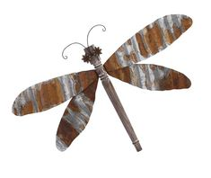 Heard the buzz? It's all about this corregated iron dragonfly, a charming addition to any garden-inspired wall.