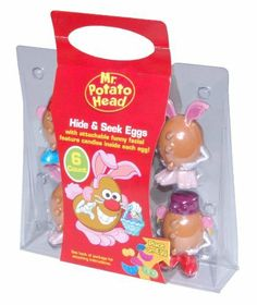 Wish you could get these in this country! Mr Potato Head, Potato Heads, Egg Hunt, Bobble Head, Easter Baskets, 4th Birthday, Birthday Invitations, Easter Eggs, Action Figures