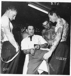 les skuse tattoo parlor vintage postcard