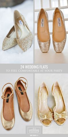 24 Wedding Flats For Comfortable Wedding Party ❤ Flats for brides is a wonderful and the most comfy alternative to the high-heeled shoe. There is some of a cute wedding flats variant. See more: http://www.weddingforward.com/wedding-flats/ #weddings #shoes More #weddingshoes