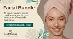 ❤️ SOCIAL MEDIA CONTENT ❤️ 🦋👩 Facial Bundle 🦋👩- A facial is one of the best ways to take care of your skin. Facials cleanse, exfoliate, and nourish the skin, promoting a clear, well-hydrated complexion and can help your skin look younger. Share the images in this beautifully vibrant bundle to educate your social media followers on the benefits of facials, why you should get them, the life cycle of a facial, and more. #Facial #Beauty Social Media Images, Social Media Content, For Your Health, Health And Wellness, Facial Cleansing, Look Younger, Facials, Life Cycles, Take Care Of Yourself
