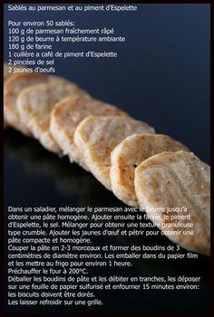 Sablés salés au parmesan et piment d'espelette