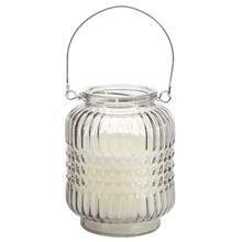 Chandelle lanterne en verre