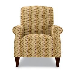 The chair and fabric choice -- Charlotte High Leg Recliner by La-Z-Boy