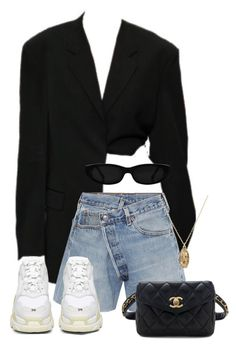 A fashion look from March 2018 featuring frayed shorts, Balenciaga and belt fanny pack. Browse and shop related looks. Edgy Outfits, Mode Outfits, Cute Casual Outfits, Summer Outfits, Fashion Outfits, Polyvore Outfits Casual, Polyvore Fashion, Looks Chic, Looks Style