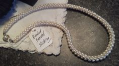 Vintage Braided Seed Pearl Necklace Bride-Mother by vintagediva50