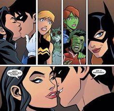Zatanna and Nightwing.  Young justice